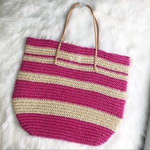 Merona Bags - Merona • Straw Beach Bag